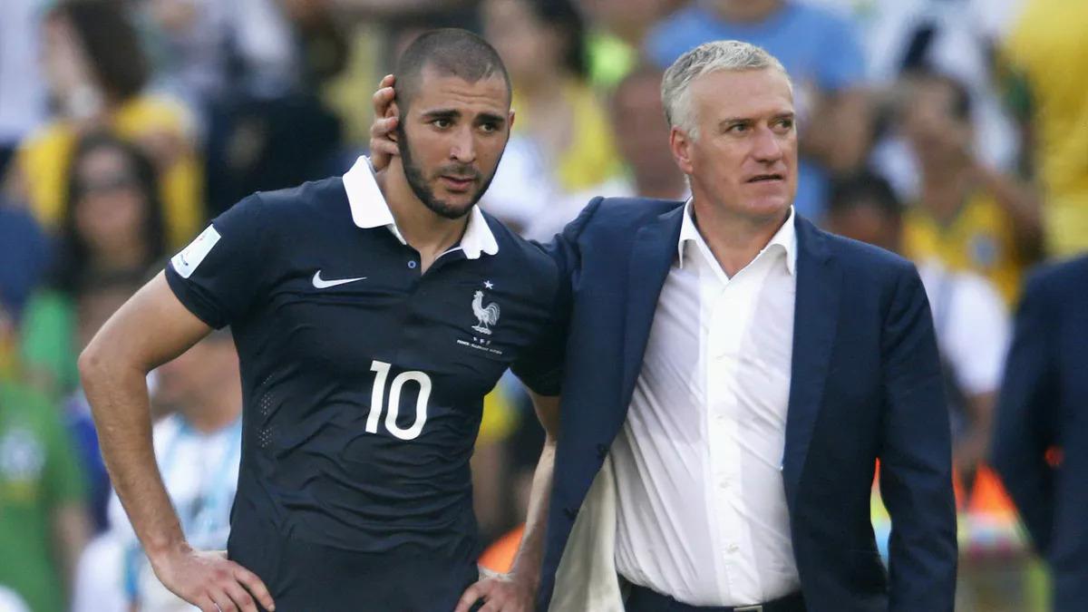 Benzema dulunya adalah siswa favorit Deschamps di Piala Dunia 2014 - di mana tim Prancis mereka mencapai perempat final.  Foto: Reuters