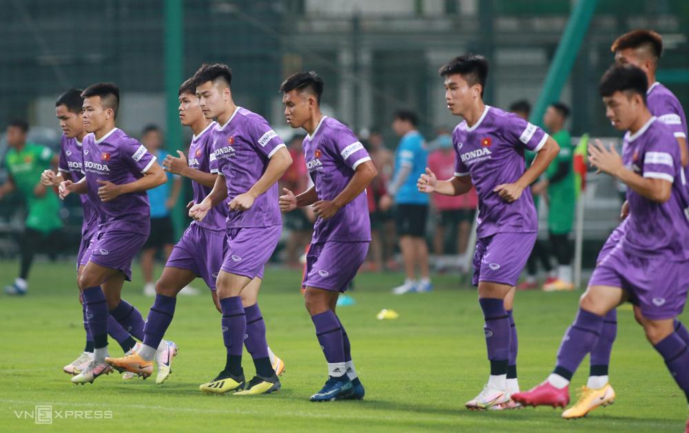 U22 Vietnam ฝึกซ้อมที่ศูนย์ฝึกฟุตบอลเยาวชนเวียดนาม