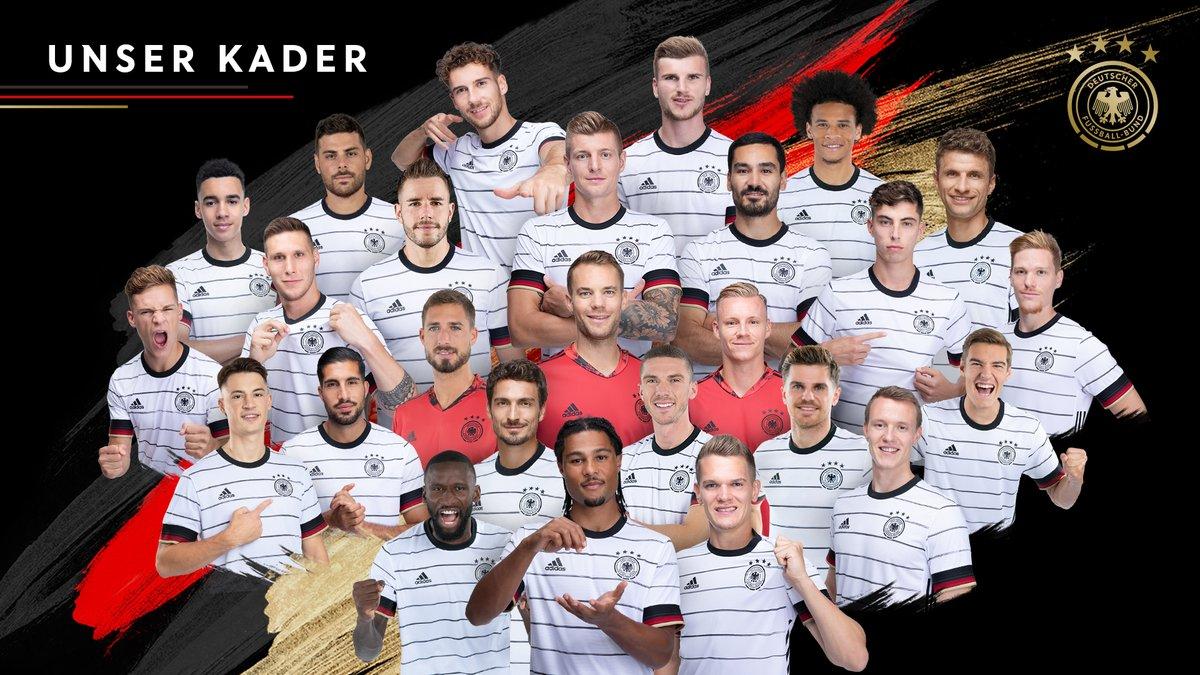 รายชื่อนักเตะเยอรมัน 26 คนที่เข้าร่วมยูโร 2020 รูปภาพ: DFB