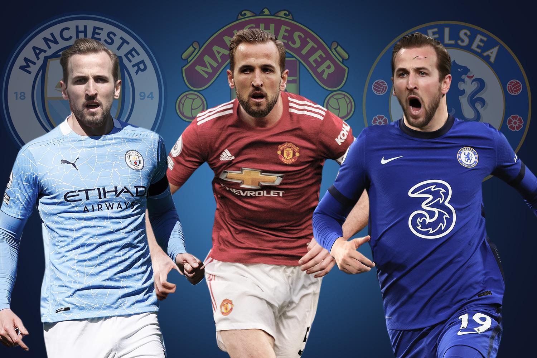 Man City và Man Utd đang có nhiều cơ hội tuyển mộ Kane hơn so với Chelsea. Ảnh: The Sun