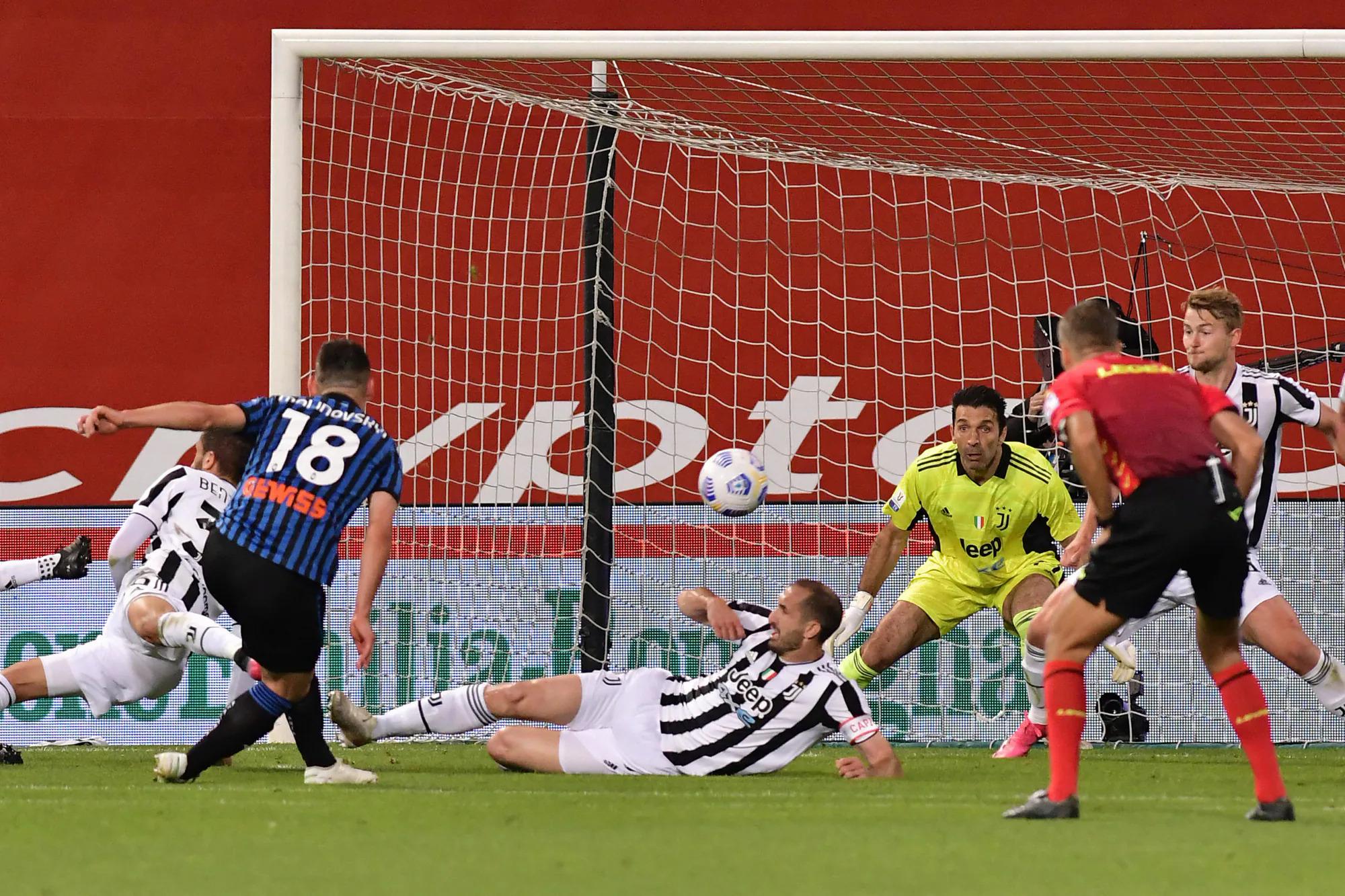 Atalanta adalah pencetak gol terbanyak di Serie A musim ini dengan 90 gol, tetapi di Mapei kemarin, mereka hanya kebobolan satu kali dari Juventus - berkat Malinovskyi.  Foto: ANSA