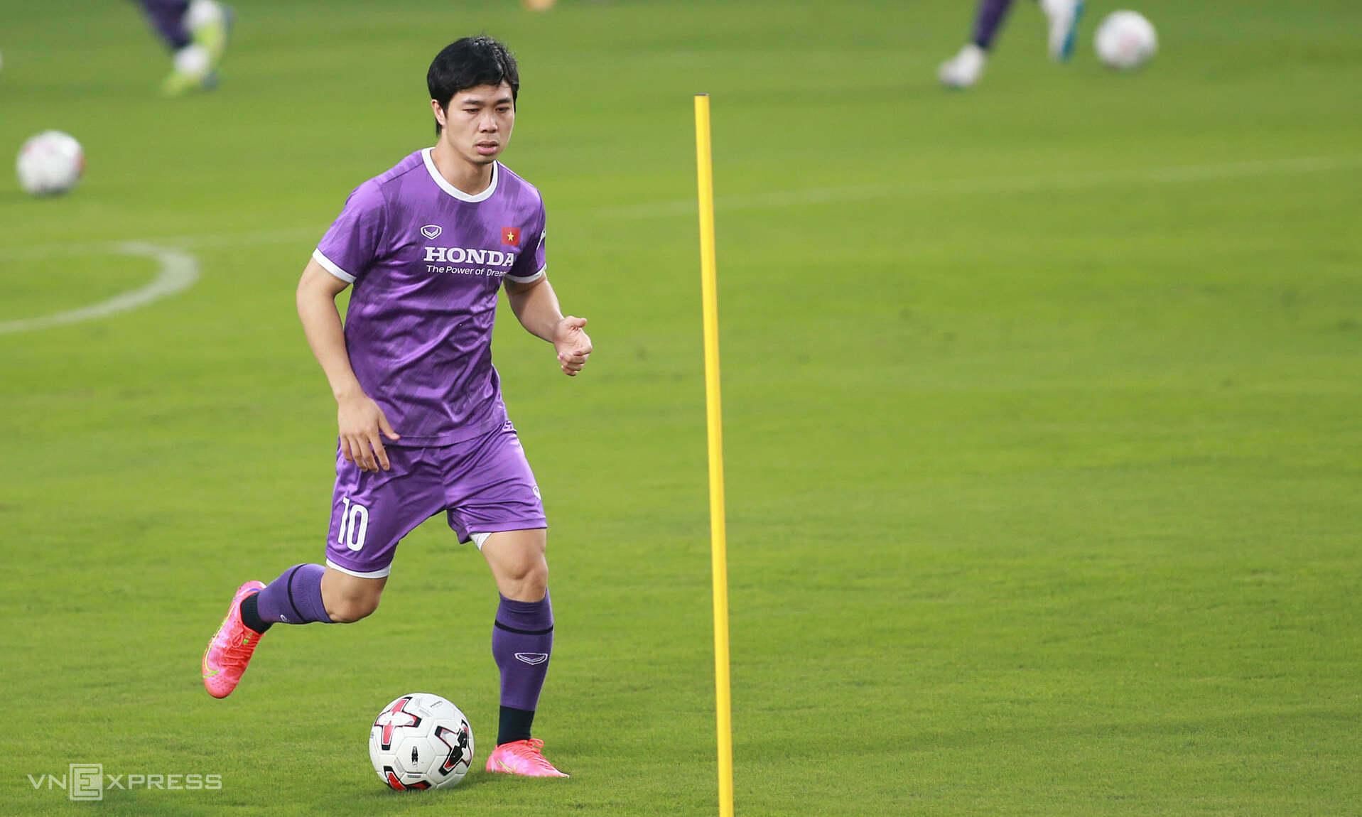 Cong Phuong ยิงหกประตูใน V-League ฤดูกาลนี้รวมถึงผลงานชิ้นเอกจากระยะไกล  ภาพ: ลำทอ