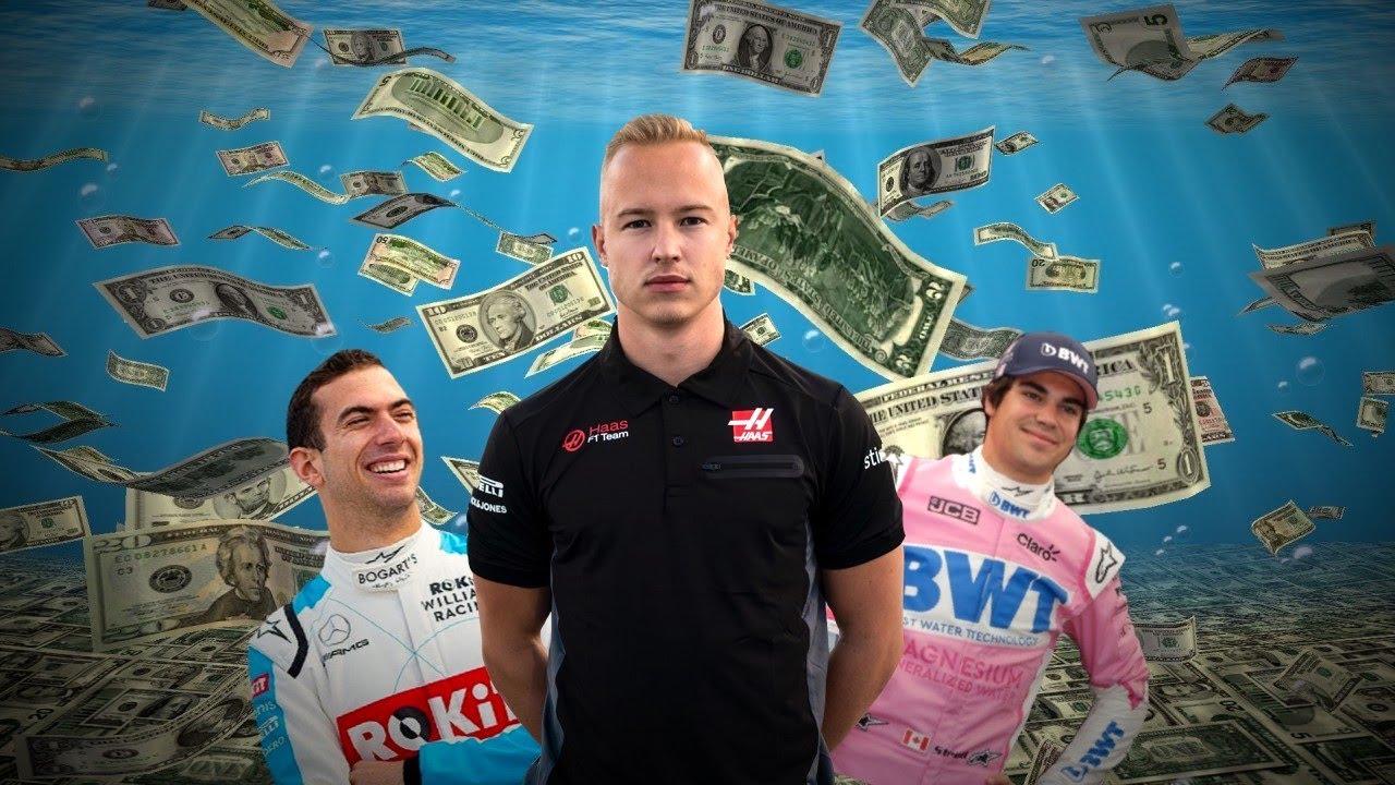 Từ trái sang, Latifi, Mazepin và Stroll, con trai các tỷ phú ở F1 hiện tại. Ảnh: Genius