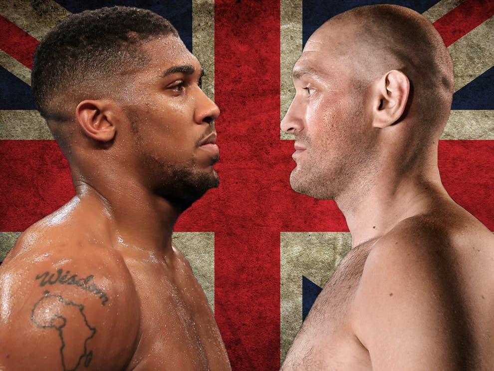 Màn so găng mà cả Anh quốc lẫn làng quyền Anh thế giới chờ đợi giữa Joshua với Fury đang có nguy cơ đổ bể. Ảnh: Independent