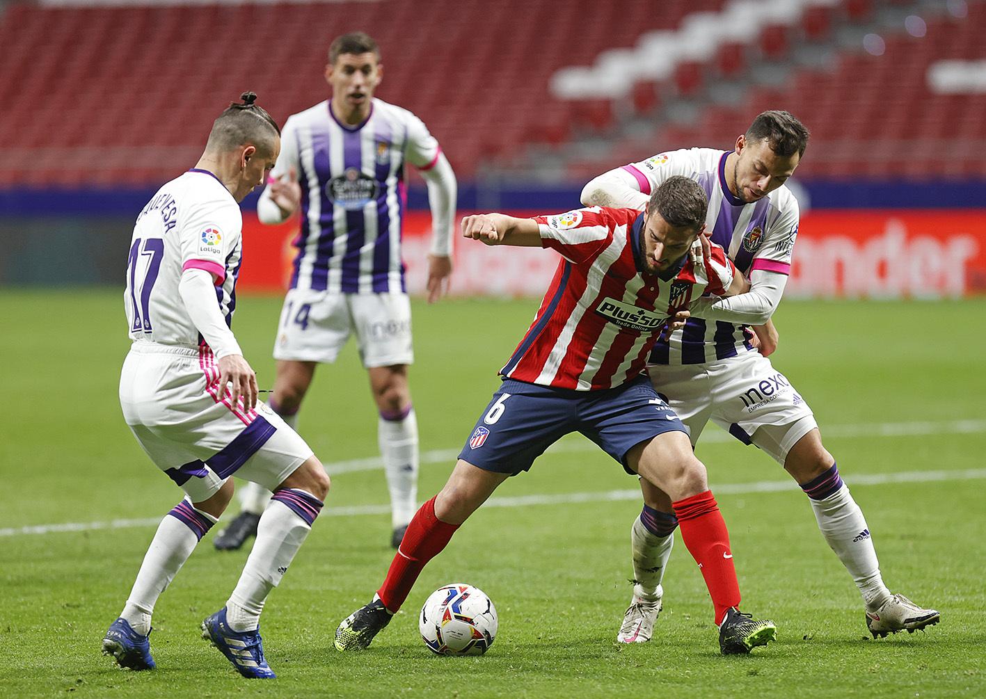 Valladolid - đối thủ mà họ từng thắng 2-0 ở lượt đi trên sân nhà Wanda - sẽ là rào cản cuối cùng của Atletico trên đường chinh phục ngôi vô địch La Liga mùa này. Ảnh: Twitter / Atletico