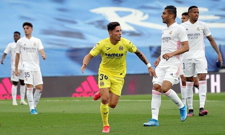 Gol pembuka Pino membuat Real mengejar hampir sepanjang waktu.  Foto: EFE.