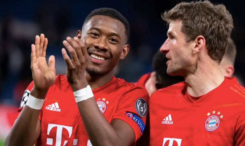 Muller lên đội một Bayern năm 2008, trong khi Alaba có vinh dự này từ 2010.