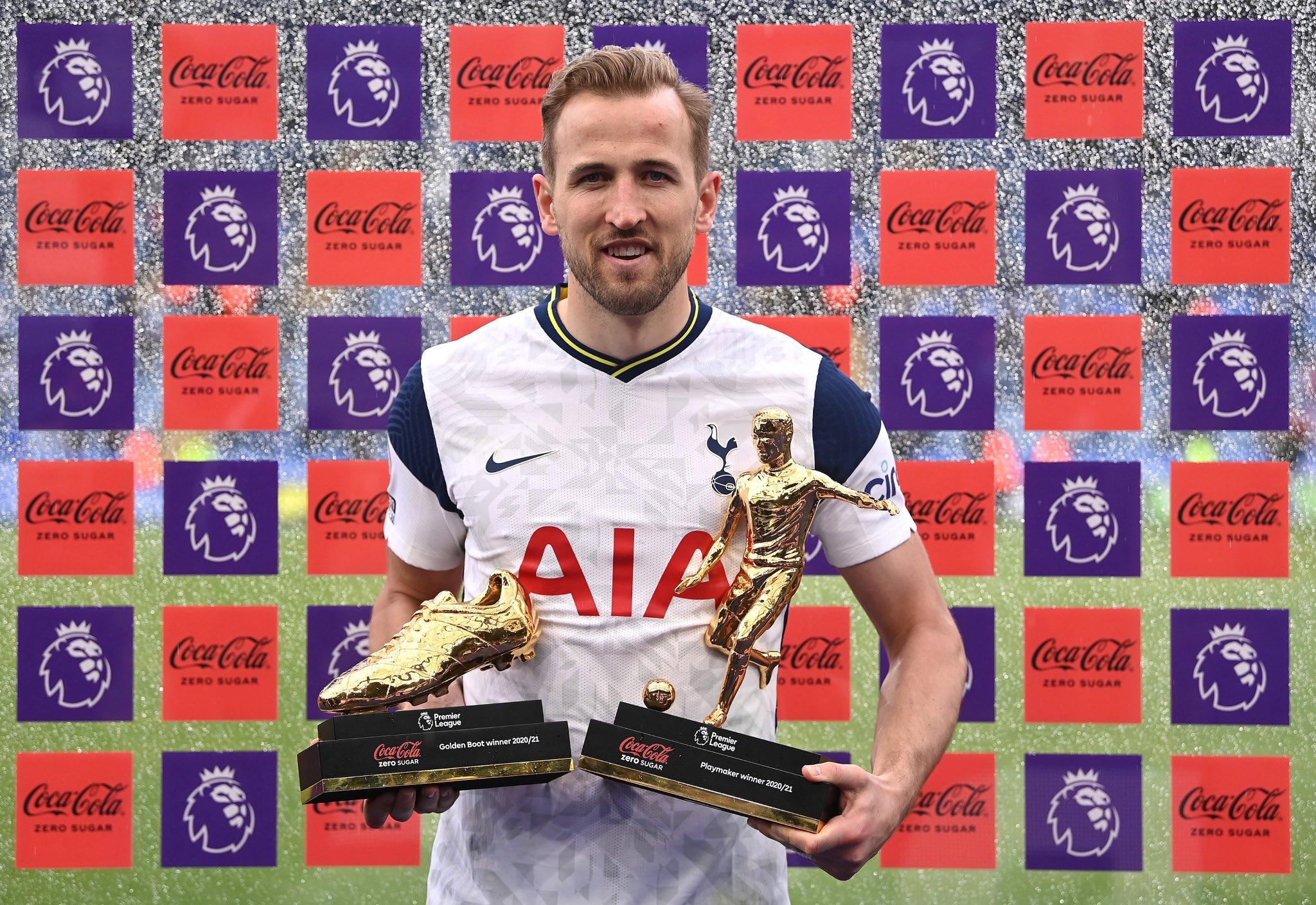 Selain 23 gol, Kane juga menyumbangkan 14 assist untuk Tottenham musim ini.  Foto: Twitter / Liga Inggris