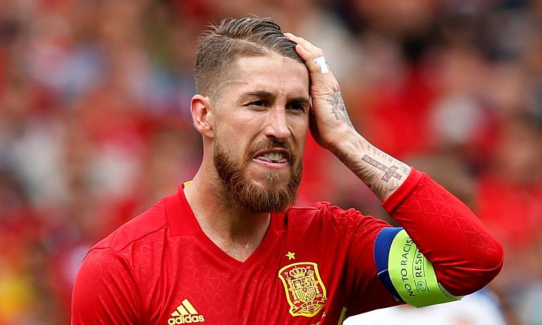 Ramos memainkan 180 pertandingan untuk Spanyol, mencetak 23 gol.  Foto: Reuters