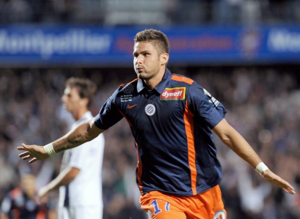 Giroud ghi 39 bàn qua 85 trận trong hai mùa giải khoác áo Montpellier, để từ đó lọt vào mắt xanh của Arsenal. Ảnh: DR