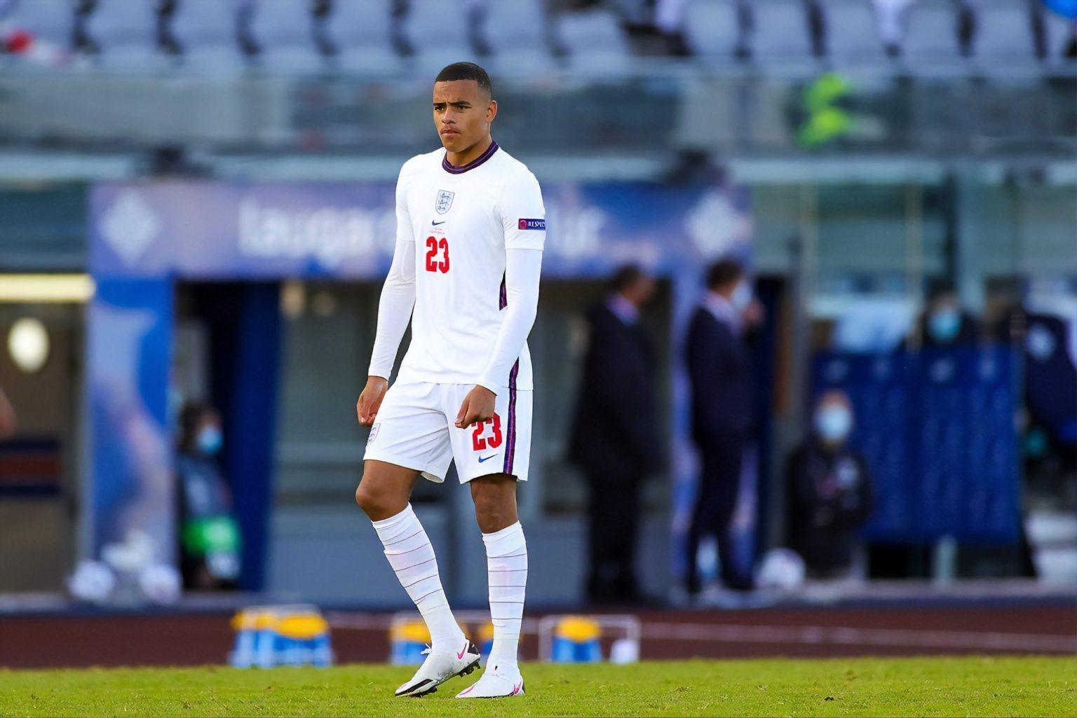 Greenwood lên tuyển Anh lần đầu và được ra mắt khi vào thay người từ phút 78 trận thắng chủ nhà Iceland 1-0 hôm 5/9/2020. Ảnh: Reuters