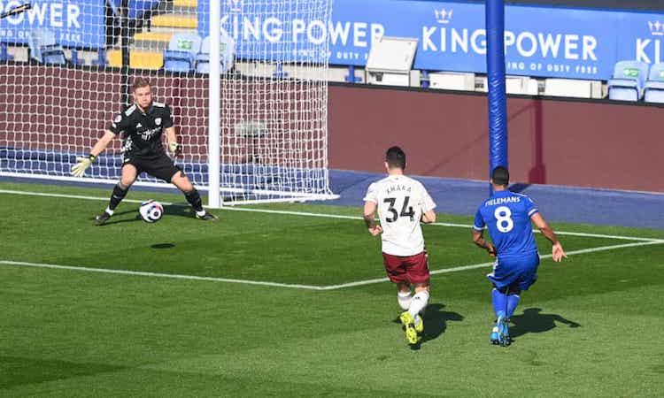 Bàn mở tỷ số sớm của Tielemans không thể giúp Leicester giành chiến thắng. Ảnh: Reuters.