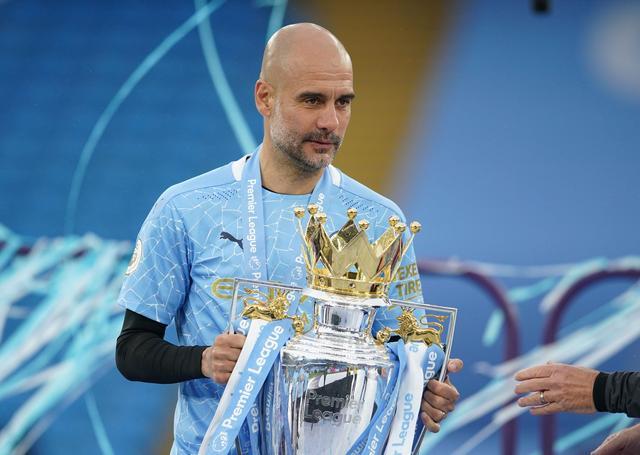 Chức vô địch mùa 2020-2021 là Ngoại hạng Anh thứ ba trong bốn mùa gần nhất của Guardiola. Ảnh: Reuters,
