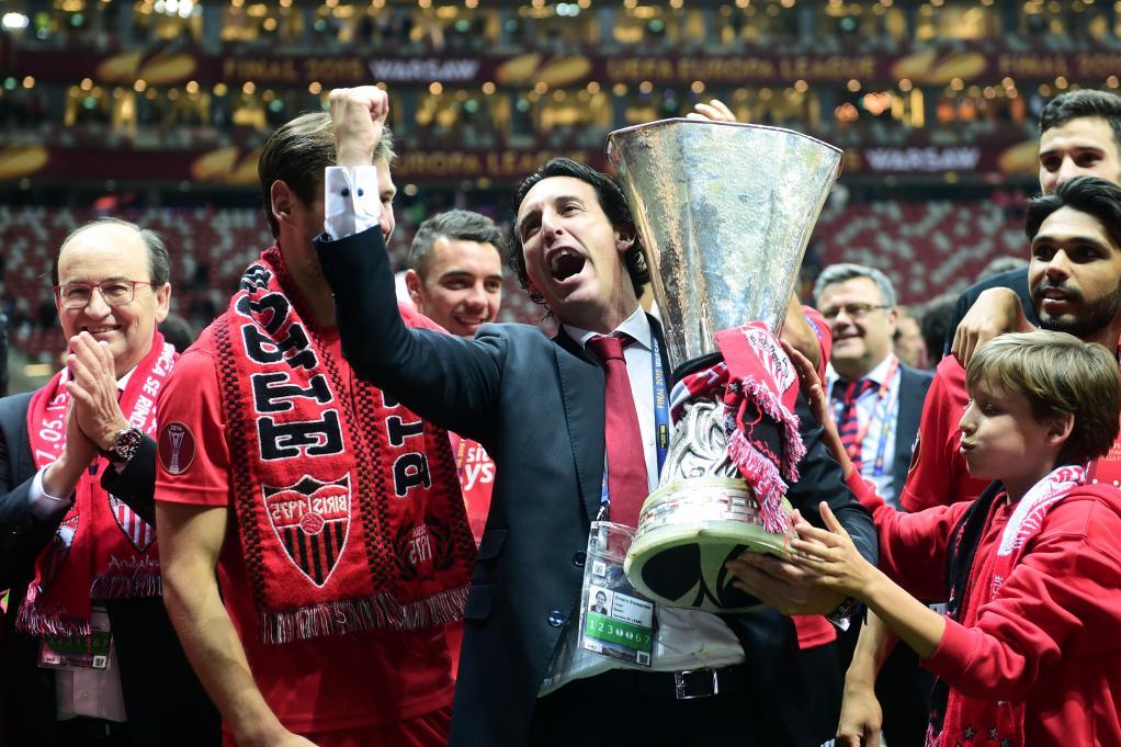 Emery telah mencapai final Liga Europa empat kali.  Kecuali saat Arsenal kalah dari Chelsea pada 2019, ia memenangkan tiga kali sisa, semuanya bersama Sevilla, pada periode 2014-2016.  Foto: AFP