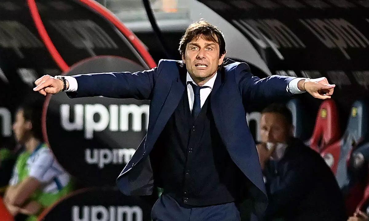 Conte bisa meninggalkan Inter hanya beberapa minggu setelah membantu klub mengakhiri sembilan tahun dominasi Juventus di Serie A.  Foto: AFP.