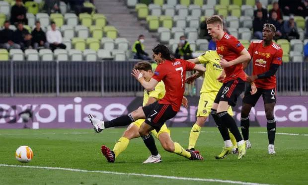 Gol penyeimbang Cavani tidak bisa memicu kebangkitan Man Utd.  Foto: Reuters.