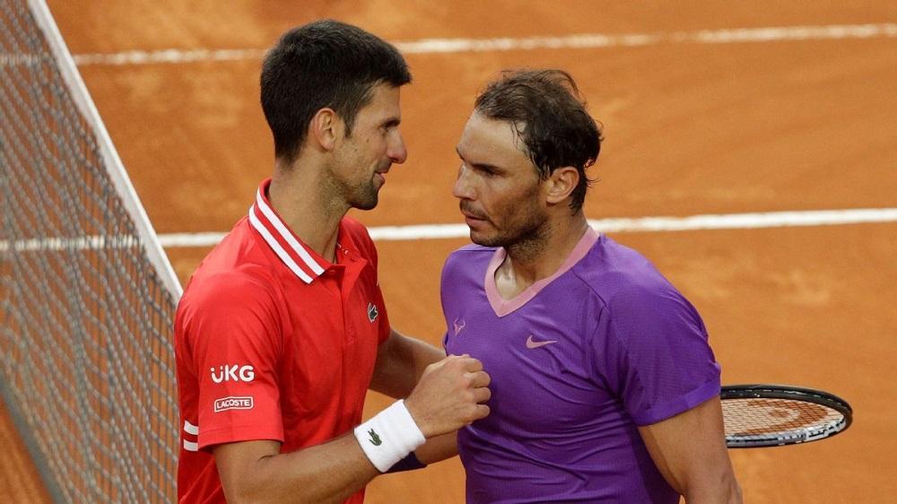 Djokovic và Nadal không thể gặp lại nhau ở chung kết Roland Garros năm nay. Ảnh: ATP.