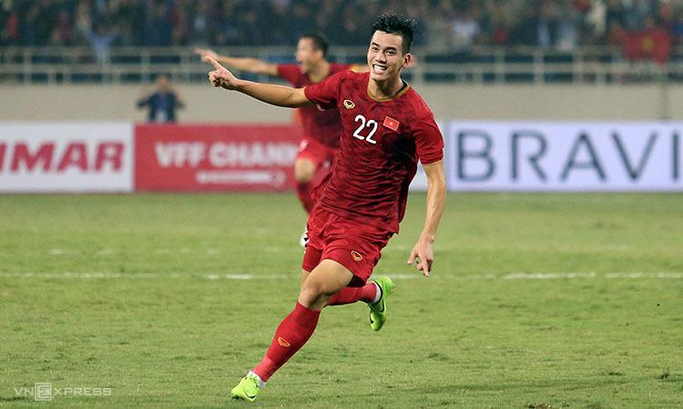 Tiến Linh đạt hiệu suất 151 phút một bàn cho đội tuyển Việt Nam dưới thời HLV Park. Ảnh: Đức Đồng