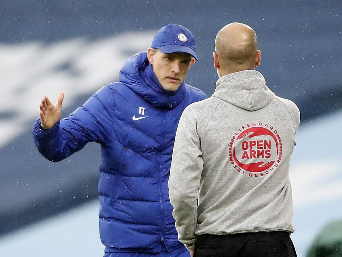 Tuchel (kiri) telah mengalahkan Guardiola di kedua pertemuan musim ini.  Foto: Reuters.