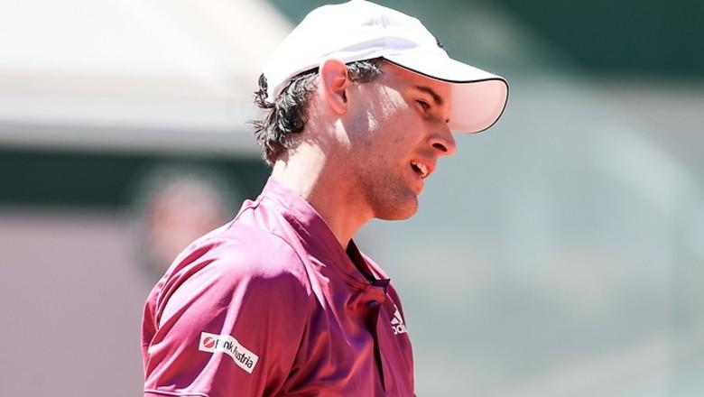 Thiem hanya memenangkan 37% dari servis kedua dan menghadapi 17 break-point dari lawannya.  Foto: ATP