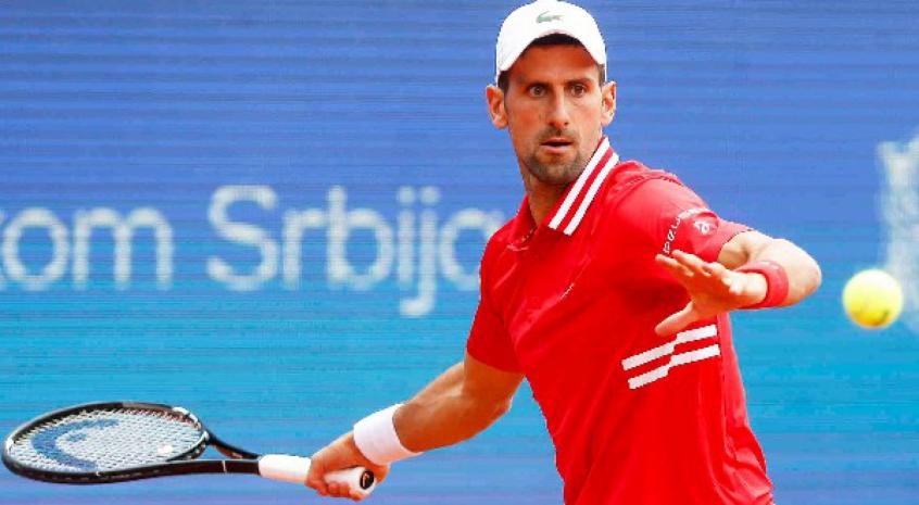 Djokovic baru berada di Paris dua hari sebelum memainkan pertandingan pertamanya di Roland Garros.  Foto: ATP