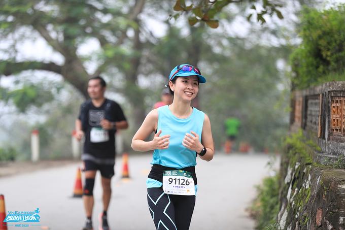 Pelari di VnExpress Marathon Hue 2020. Foto: VnExpress Marathon.