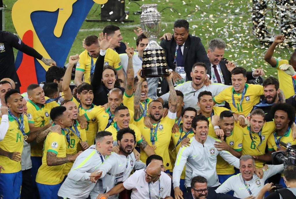 Brazil có cơ hội tốt để bảo vệ chức vô địch. Ảnh: Reuters.
