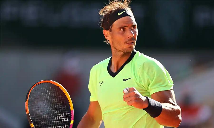 Nadal có 28 điểm winner và đạt tỷ lệ thắng điểm giao bóng một 81%. Ảnh: ATP