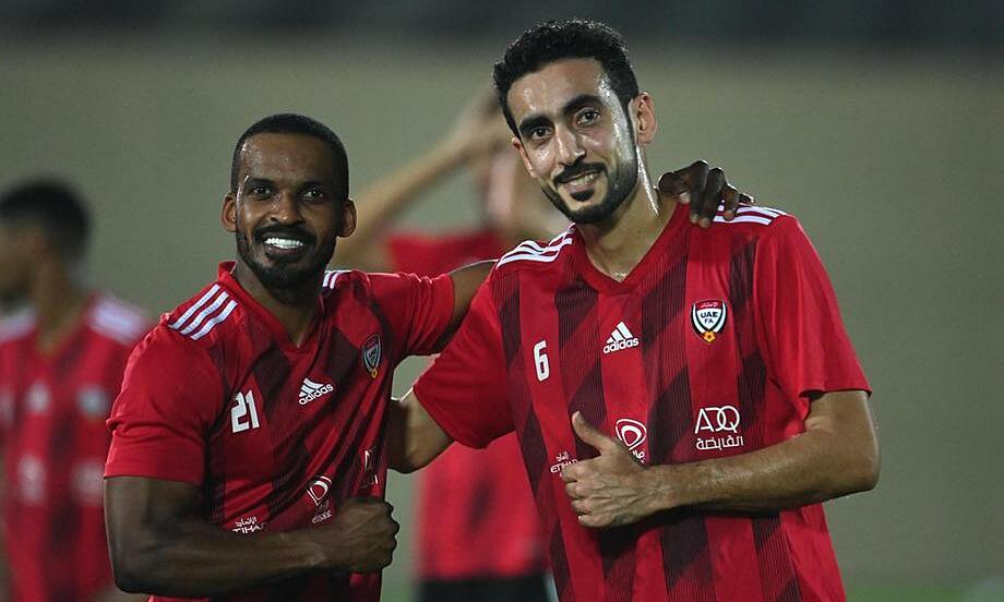 Jaber (phải) và cầu thru UAE đang rất tự tin sau khi ghi 11 bàn ở hai trận gần nhất. Ảnh: The National
