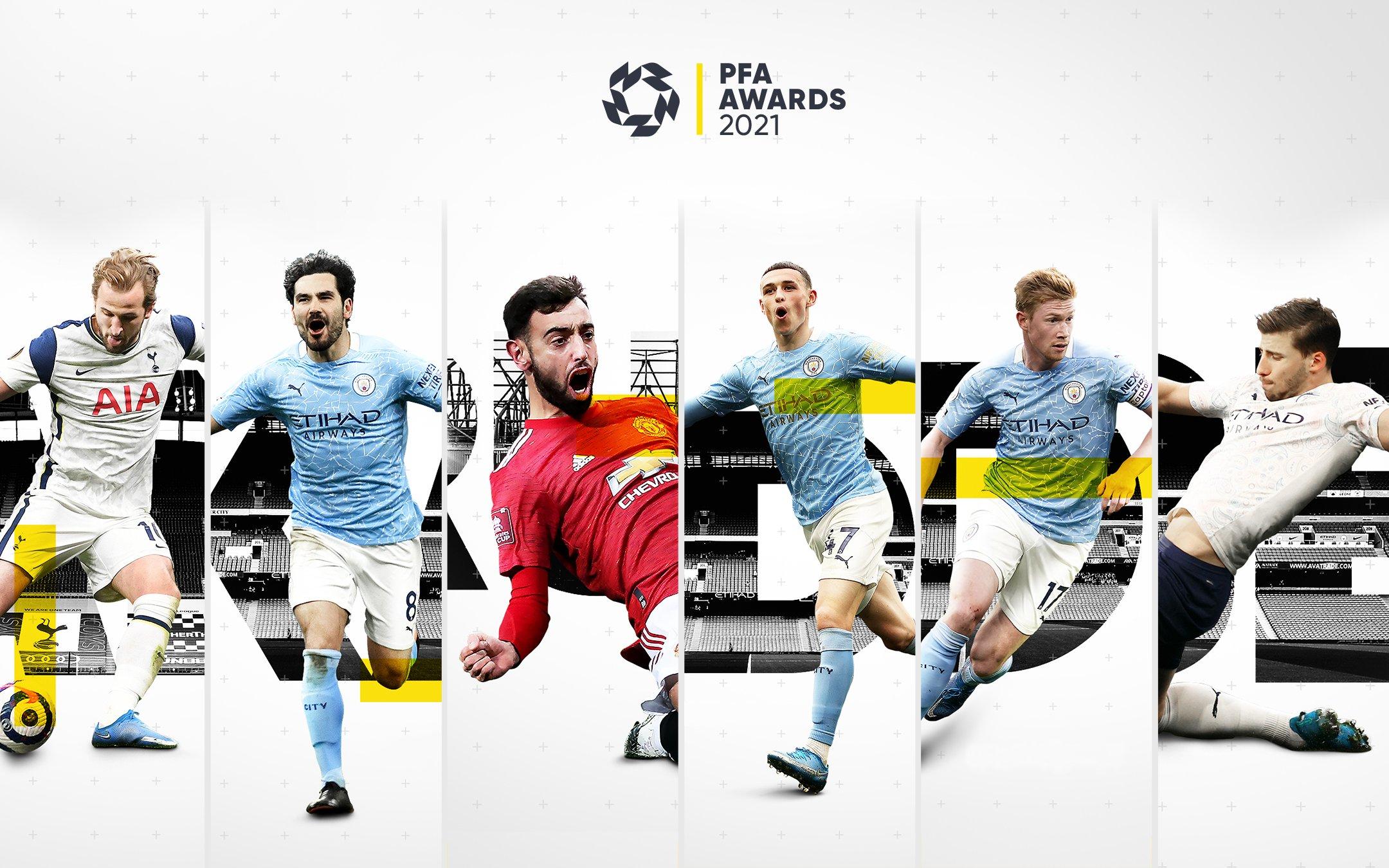 Sáu đề cử Cầu thủ hay nhất mùa. Ảnh: PFA