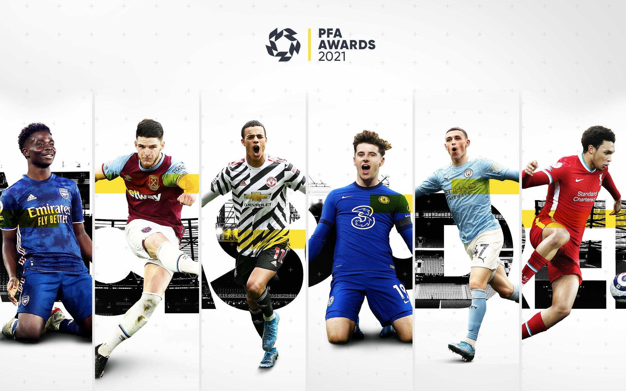 Sáu đề cử Cầu thủ trẻ hay nhất mùa. Ảnh: PFA