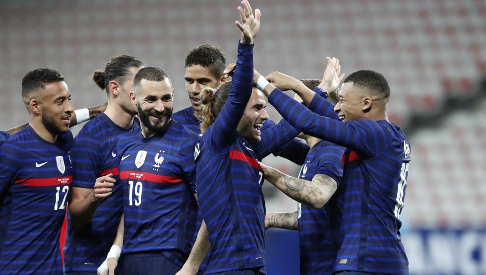 Griezmann và Mbappe đều lập công trong trận khởi động cho Euro.