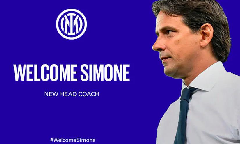 Simone Inzaghi ký hợp đồng dẫn dắt Inter đến hè 2023. Ảnh: Inter.it