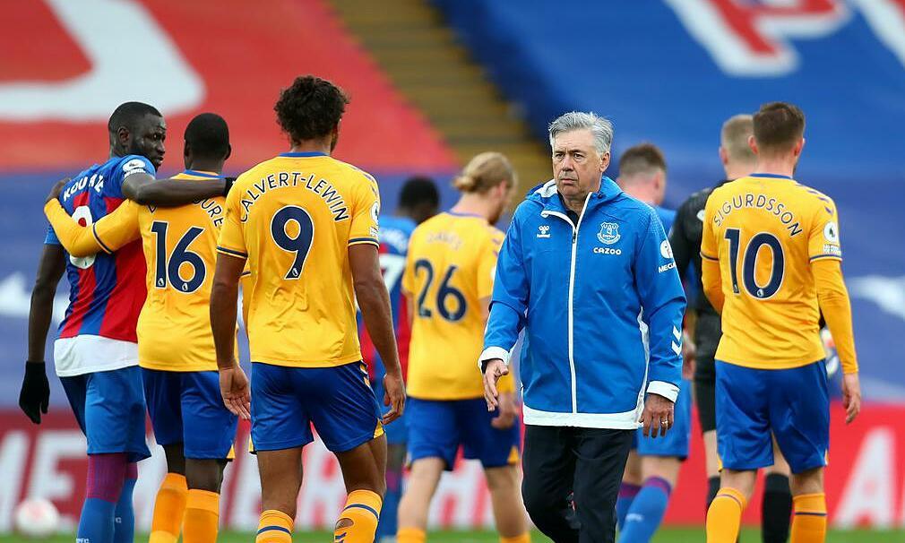 "Ancelotti นำ Everton มานานกว่าหนึ่งปีครึ่งผ่าน 67 เกมและชนะ 31 เกมถึง 46.27%  ภาพถ่าย: ""PA ."""