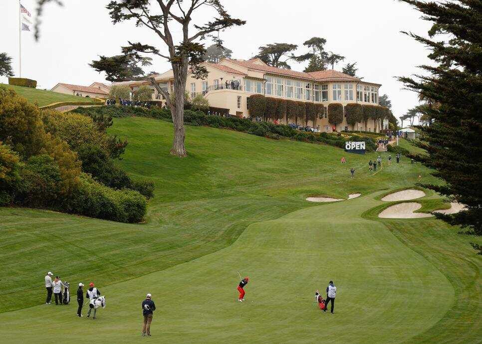 Địa hình hiểm trở của hố 18 sân Hồ. Ảnh: Golf Digest
