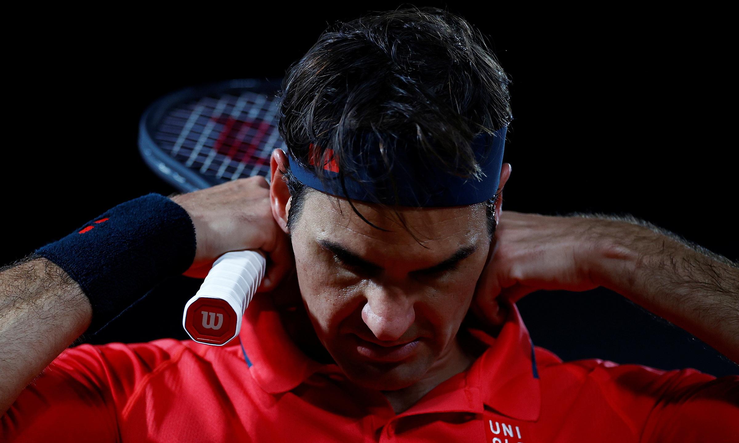 Federer vẫn chưa thể vào chung kết Pháp Mở rộng kể từ năm 2009. Ảnh: Reuters