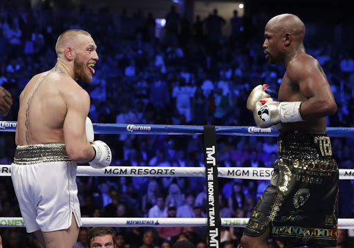 McGregor joked about Mayweather during the fight in August 2017.  Photo: AP