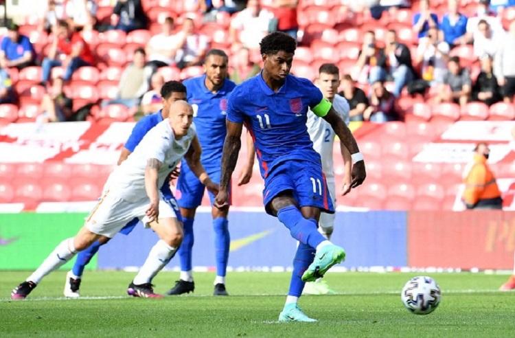 Rashford ghi bàn duy nhất cho tuyển Anh. Ảnh: Sky