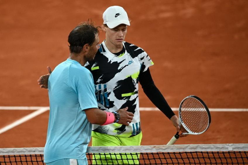 Sinner chưa thắng Nadal set nào trong hai lần gặp nhau. Ảnh: ATP