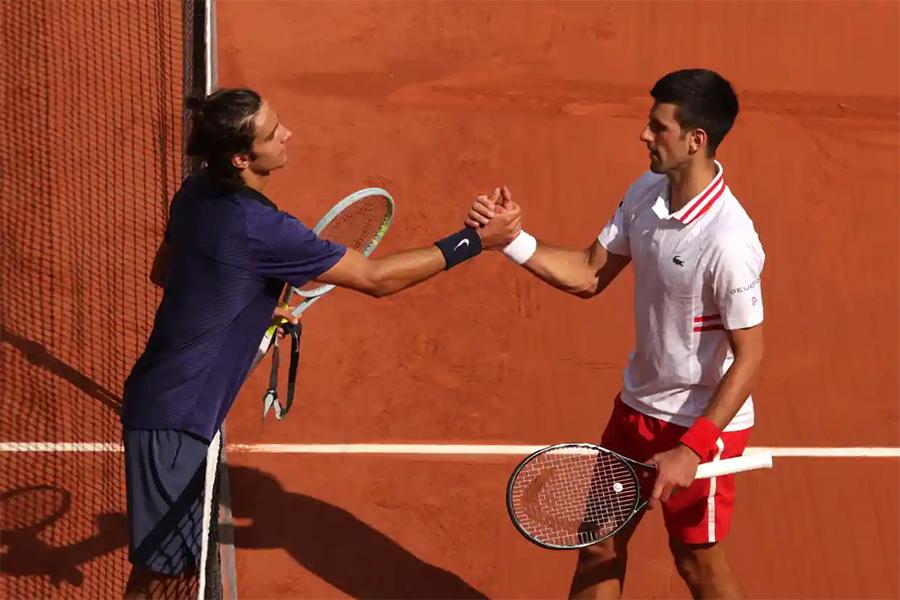 Musetti không thể hoàn thành trận đấu với Djokovic vì chấn thương. Ảnh: ATP