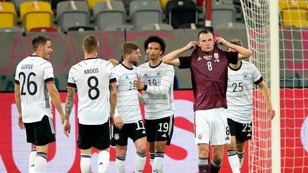 Werner kembali mencetak gol saat mengenakan seragam tim nasional.