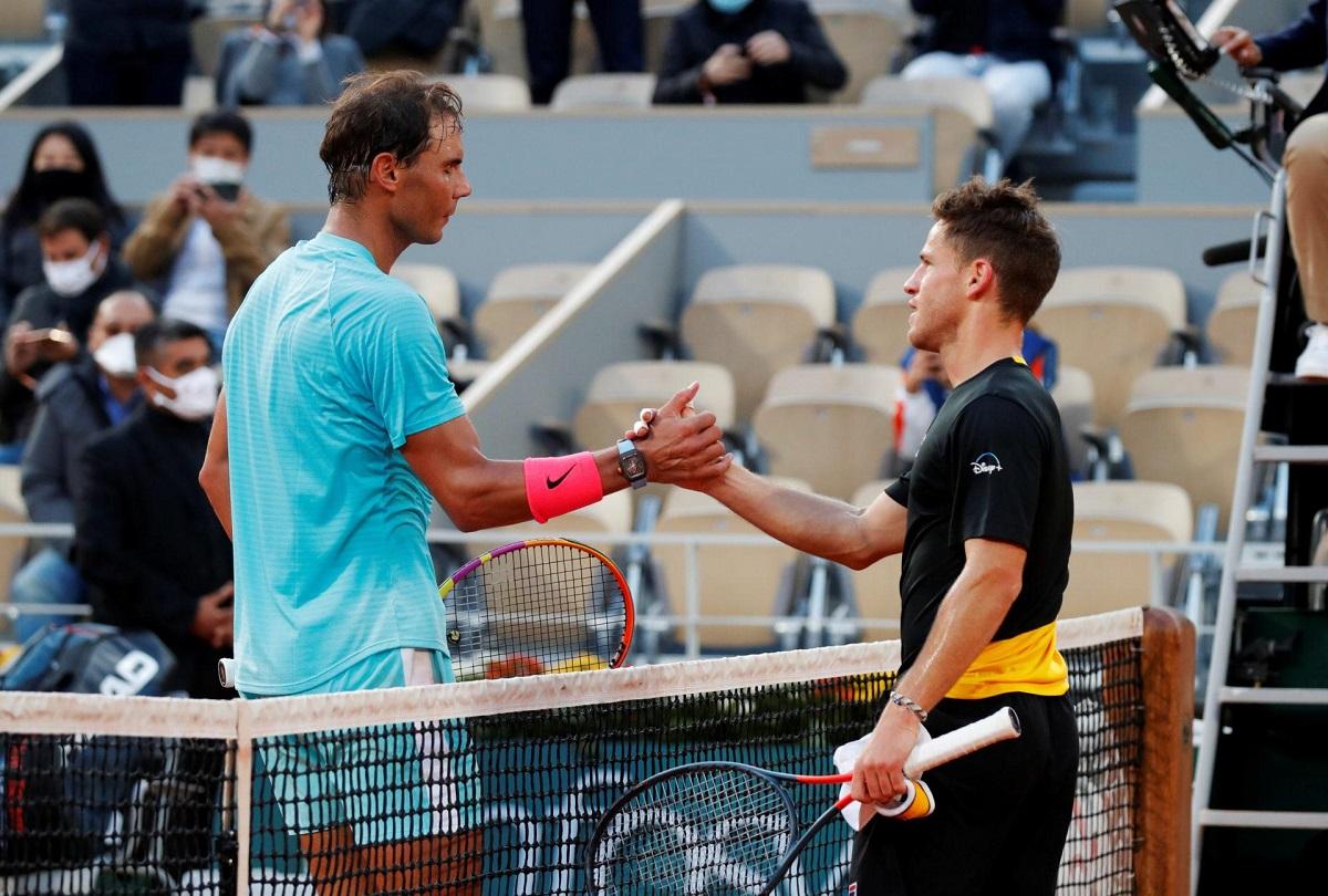 Tinggi badan Schwartzman yang sederhana yakni 1,7m kerap dimanfaatkan Nadal dalam 11 pertemuan.  Foto: ATP