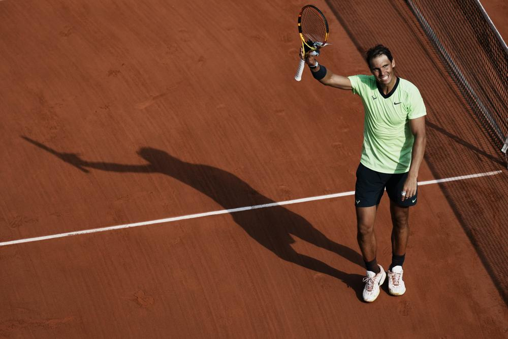 Nadal thắng trận thứ 105 tại Roland Garros. Ảnh: AP
