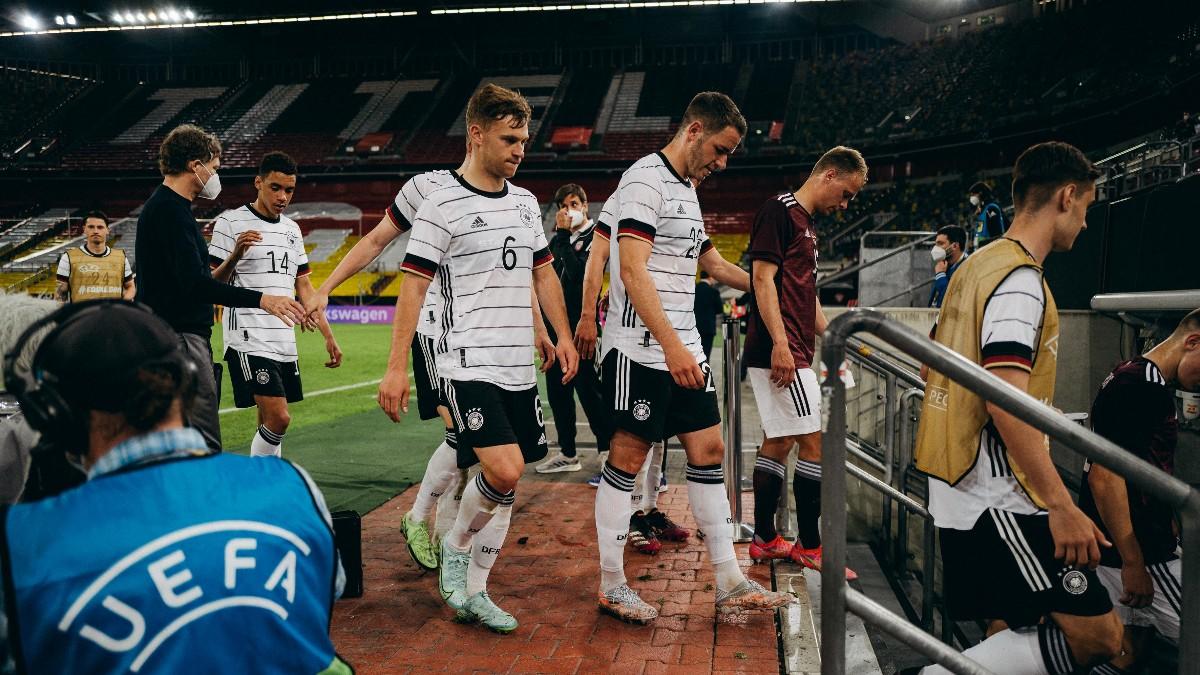 Jerman baru saja menang 7-1 atas Latvia, namun sebelumnya juga ditahan 1-1 oleh Denmark dalam dua laga persahabatan untuk memanaskan Euro 2021. Foto: Die Mannschaft