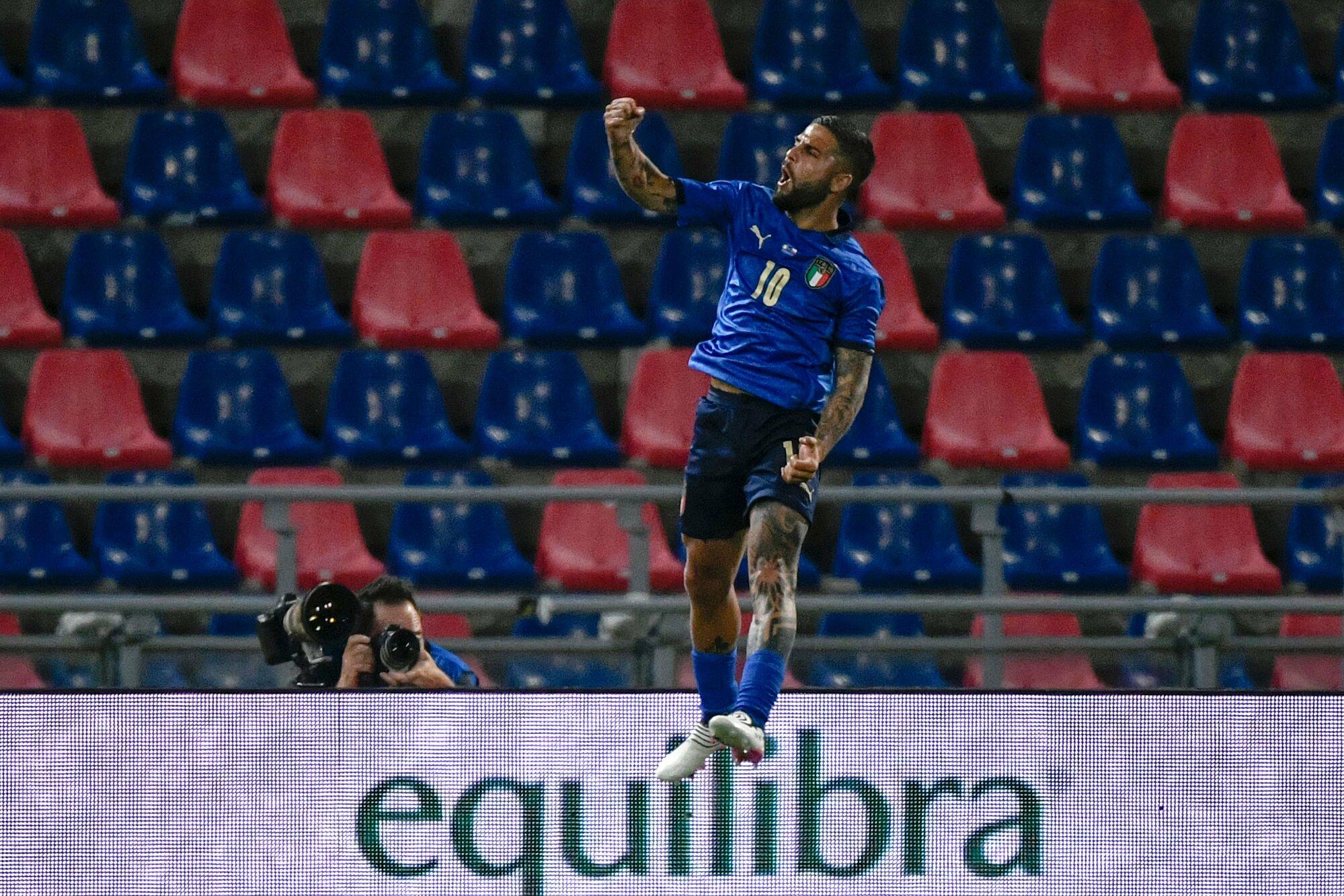 Italia terbang dengan 27 pertandingan beruntun tak terkalahkan di bawah Mancini.  Foto: FIGC