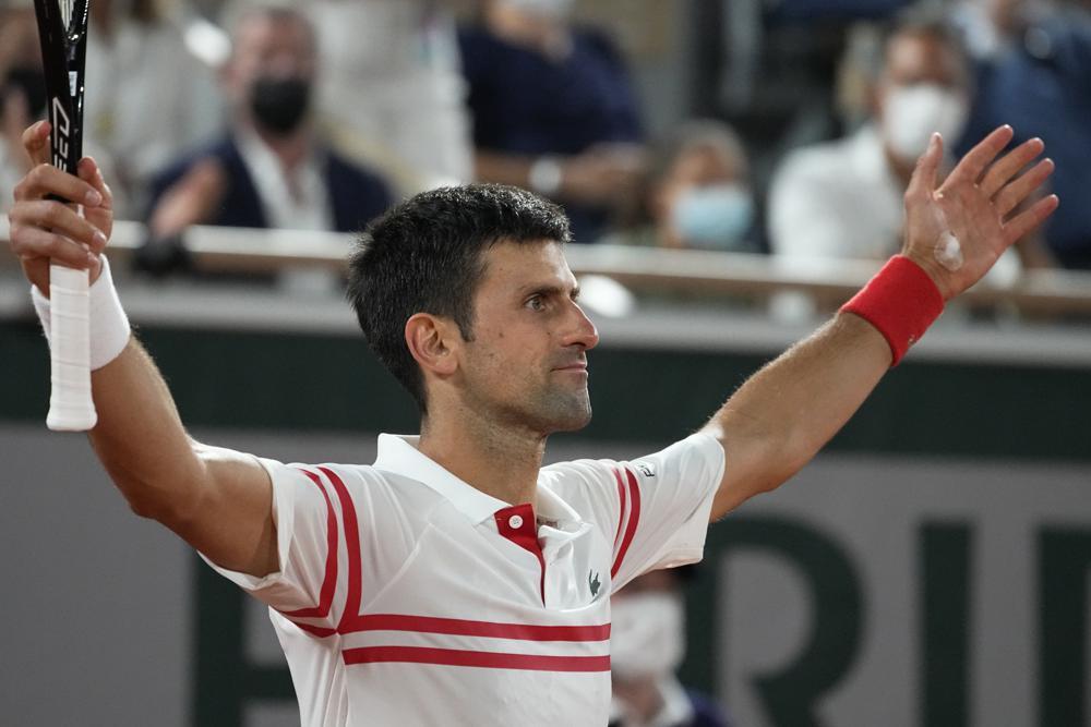 Djokovic lần thứ sáu vào chung kết Roland Garros. Ảnh: AP