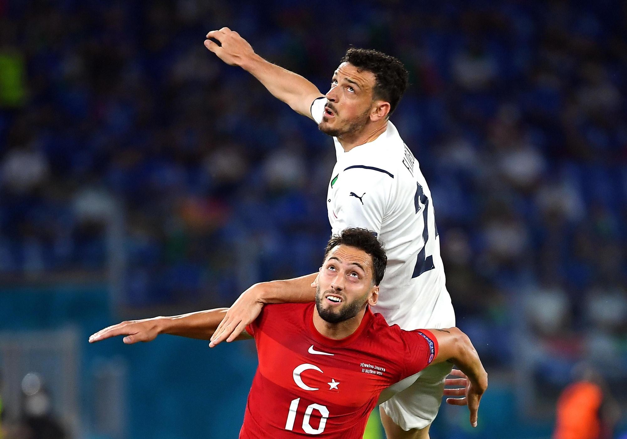 Italia benar-benar di depan Turki di pertandingan pembukaan Euro.  Foto: EPA