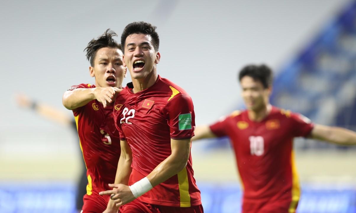 Tiến Linh ghi bàn bốn trong năm trận gần nhất của tuyển Việt Nam ở vòng loại World Cup. Ảnh: Lâm Thỏa.
