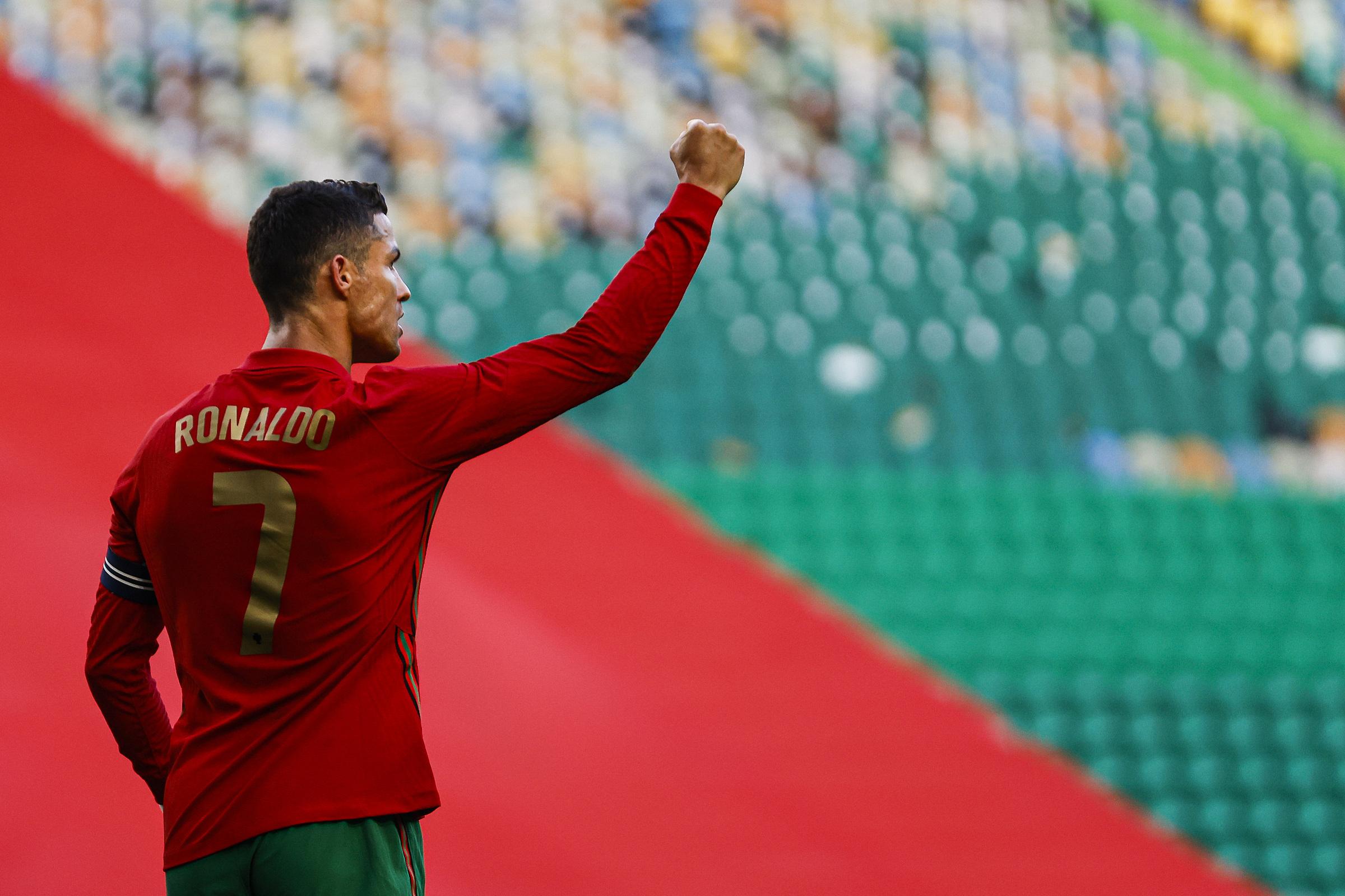 Ronaldo mừng bàn thắng trong trận giao hữu thắng Israel 4-0 hôm 10/6. Ảnh: Selecao Portugal