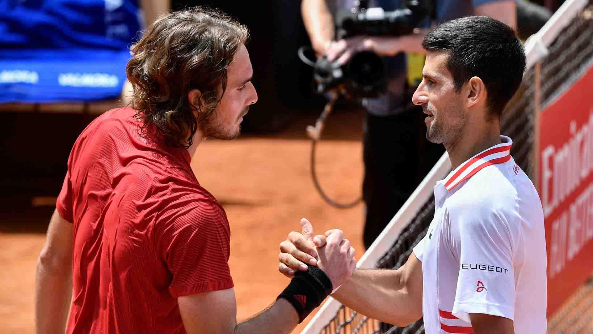 Djokovic menang melawan Tsitsipas dalam pertemuan terakhir di Roma.  Foto: AP